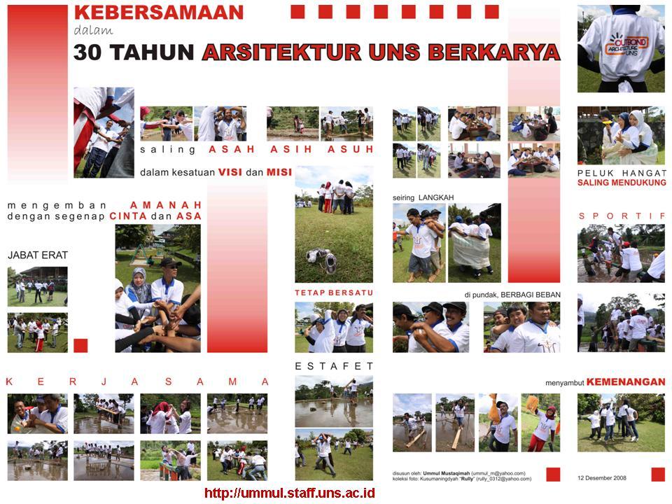 Outbond Jurusan Arsitektur UNS (Desember 2008)