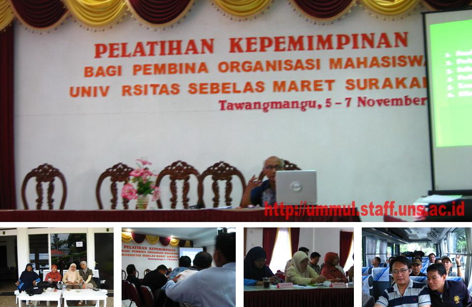 Pelatihan Kepemimpinan bagi Pembina Organisasi Mahasiswa Universitas Sebelas Maret